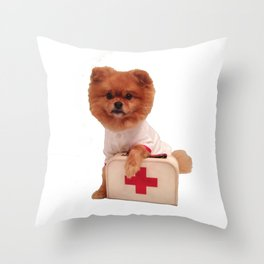 Dog doctor  Throw Pillow