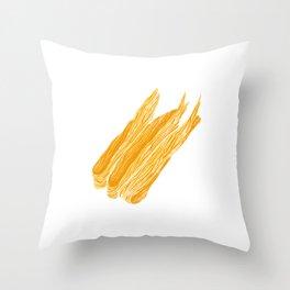 Illustration of dried bean milk cream in tight rolls Throw Pillow