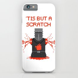 Monty Phyton black knight iPhone Case