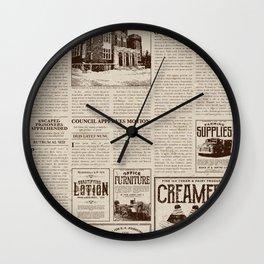 Vintage Newspaper Wall Clock