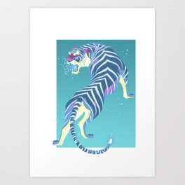 Thunder Tiger Art Print