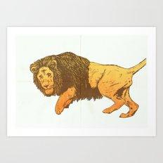Riso-lion! Art Print