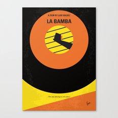 No797 My La Bamba minimal movie poster Canvas Print
