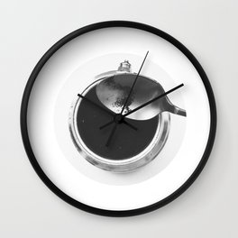 Coffee routine Wall Clock