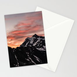 Pink Sky - Cascade Mountains - Nature Photography Stationery Cards