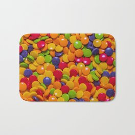 Sour Candy Buttons. Real Candy Pattern Bath Mat