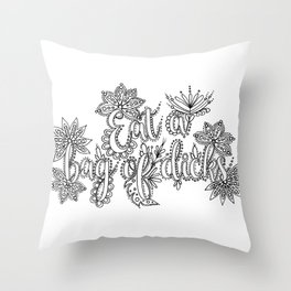 Eat A Bag of Dicks Adult Coloring, Funny Coloring Design Throw Pillow