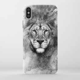 Lion Black and White iPhone Case