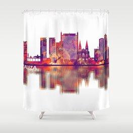 Fortaleza Brazil Skyline Shower Curtain
