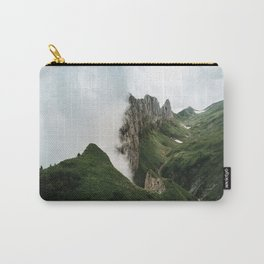 Foggy mountain ridge in Switzerland - Landscape Photography Carry-All Pouch