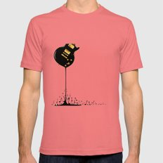 Flowing Music LARGE Mens Fitted Tee Pomegranate