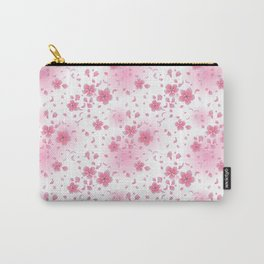 Pretty Pink Blossom Pattern Carry-All Pouch