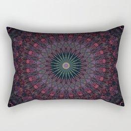 Mandala in dark red and brown tones Rectangular Pillow