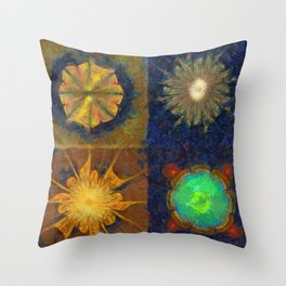 Unijugous Threadbare Flowers  ID:16165-010211-80730 Throw Pillow