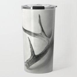 Lost and Found - Deer Antler Pencil Drawing Travel Mug
