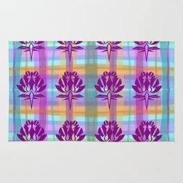 Plaid Floral Rug