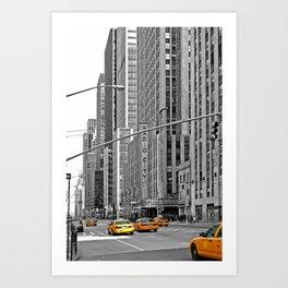 NYC - Yellow Cabs - Music Art Print