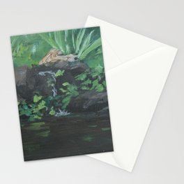 Fountain at the Zoo AC151223b-13 Stationery Cards