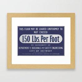 150 Pounds Framed Art Print