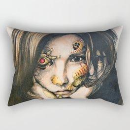 Steampunk Cyborg Rectangular Pillow
