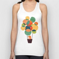 hot Tank Tops featuring Whimsical Hot Air Balloon by Picomodi