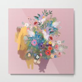 Mixed bouquet of flowers Metal Print