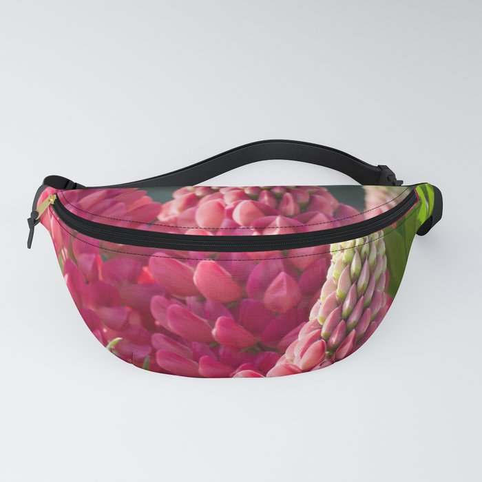 Pink flower towers (small-flowered lupin) Fanny Pack