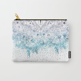 Elegant floral mandala and confetti image Carry-All Pouch