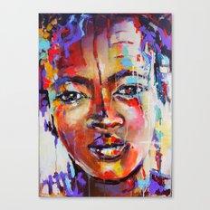 Closer - portrait of a beautiful woman Canvas Print