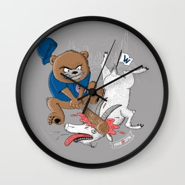 The Goat is Dead! (grey version) Wall Clock