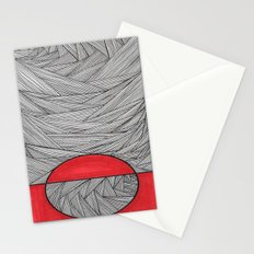 Red Half Stationery Cards