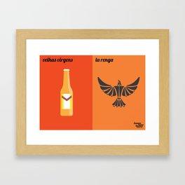 Velhas Virgens x La Renga Framed Art Print