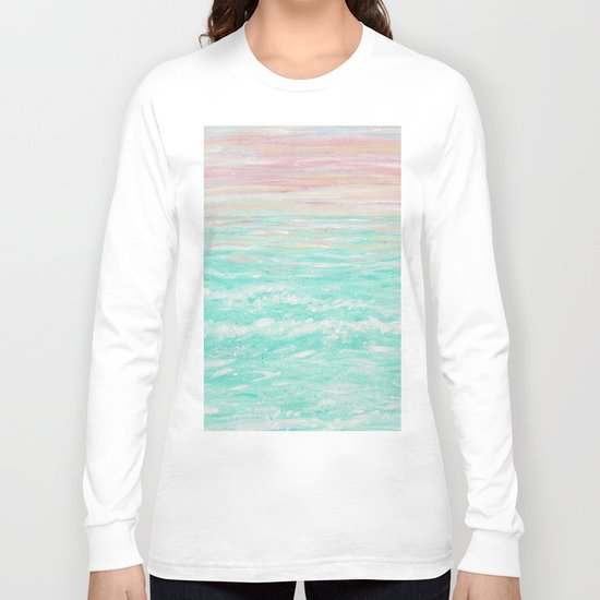 """Tropical Sunset"" Long Sleeve T-shirt"