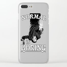 Gomez: Normal is Boring Clear iPhone Case