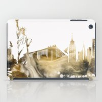 new york skyline iPad Cases featuring New York City Skyline  by jbjart