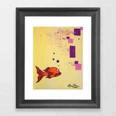 Lil' Orangy Framed Art Print