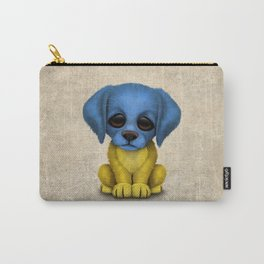 Cute Puppy Dog with flag of Ukraine Carry-All Pouch