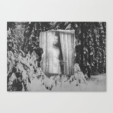 Sylvia in the snow Canvas Print