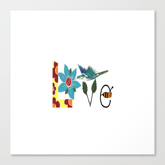 L Is For Love Canvas Print