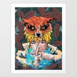 Naruto Abstract Art Print