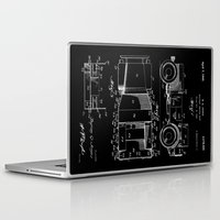 jeep Laptop & iPad Skins featuring Jeep: Byron Q. Jones Original Jeep Patent - White on Black by Elegant Chaos Gallery