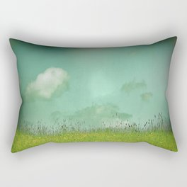 Daydreaming in the meadow - textured photography Rectangular Pillow