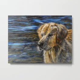 One Wet Golden Retriever by Teresa Thompson Metal Print