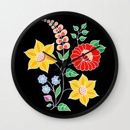 Hungarian placement print - black Wall Clock