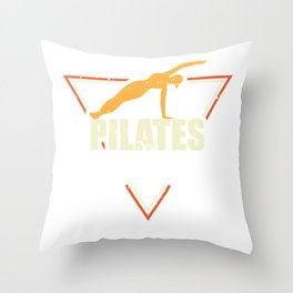 Funny Pilates Like A Sport Only Harder Throw Pillow