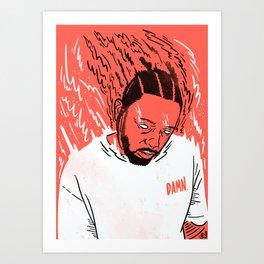 Kendrick Lamar - Damn. Art Print