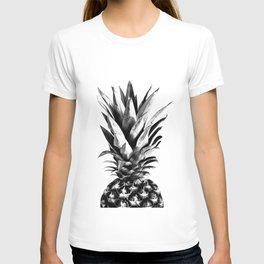 Pineapple Black & White Dream #1 #tropical #fruit #decor #art #society6 T-shirt