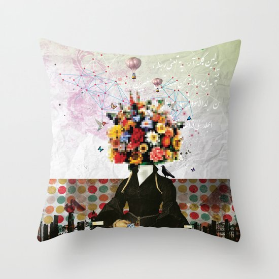 Madame Noon Throw Pillow