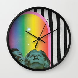 Stars Shine Brighter With You Wall Clock