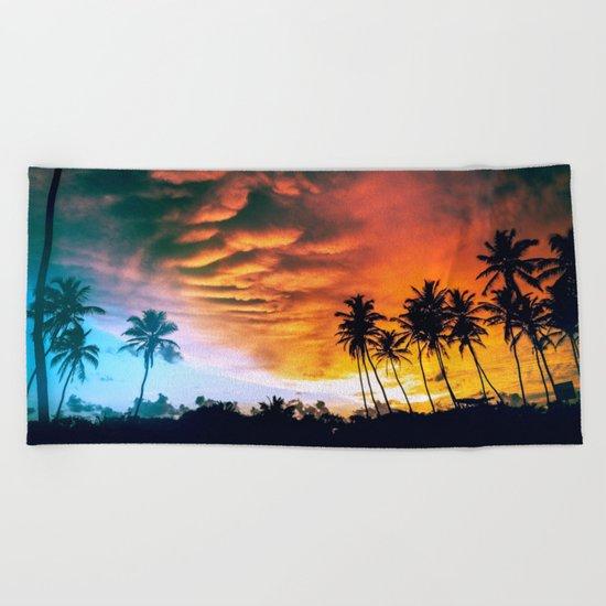 Beach Sunset Beach Towel